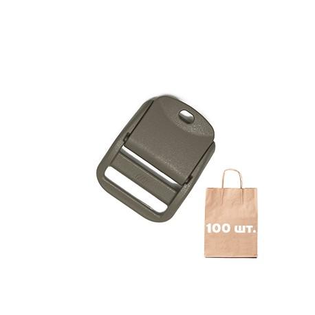 Регулятор Ремня 25 мм Curved Cam Lock WJ. Упаковка 100 шт. Тан_IRR