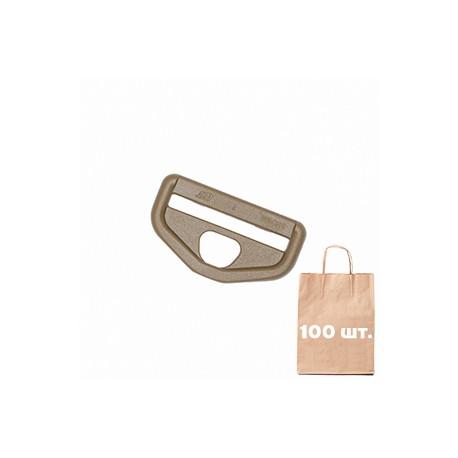 Рамка для карабина 40 мм Snap Hook Loop WJ. Упаковка 100 шт. Койот