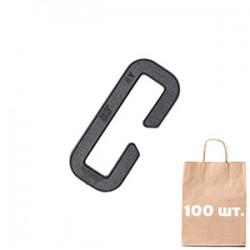 Рамка 25 мм открытая Slotted Loop WJ. Упаковка 100 шт. Черный