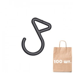 Крюк для сумки 20 мм Utility Hook WJ. Упаковка 100 шт. Черный