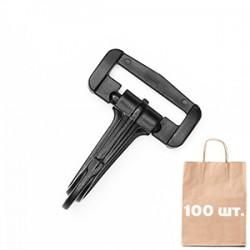 Карабін 30 мм Standard Snap Hook WJ. Упаковка 100 шт.