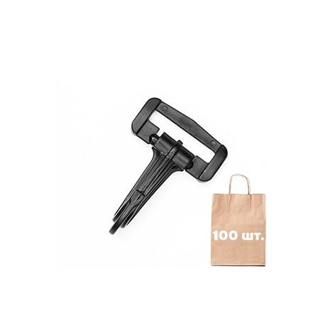 Карабин 30 мм Standard Snap Hook WJ. Упаковка 100 шт.