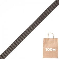 Лента репсовая 10 мм черный