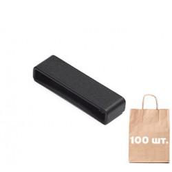 Фиксатор ремня 38 мм L/P Strap Keeper WJ. Упаковка 100 шт. Черный
