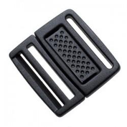 Плоский Фастекс 20 мм Low Profile Center Push Buckle WJ черный