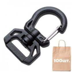 Карабін для ключів 10 мм Swivel Round Hook WJ. Упаковка 100 шт.