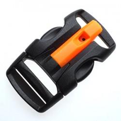 Фастекс со свистком 20 мм X Wing Buckle WJ черный/оранжевый