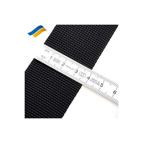 Лента полиамидная ременная 40 мм черный