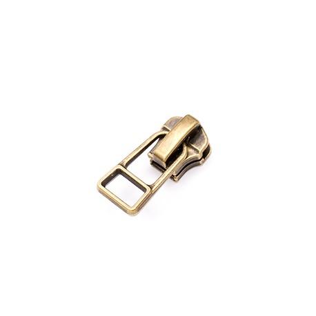Бегунок №5 Auto Lock Wire puller Metal zipper ATQ brass