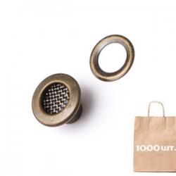 Люверс 5 мм NO:3 BRASS MESH EYELET. Упаковка 1000 шт.