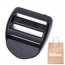 Регулятор ремня 40 мм Curved WJ. Упаковка 100 шт. Black