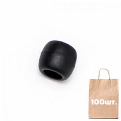 Стопер круглый Ring Stopper WJ. Упаковка 100 шт. Black