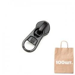 Бегунок №5 Non Lock reversed, ВС puller, Logo. Упаковка 100 шт.