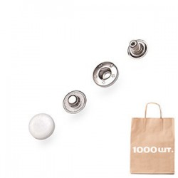 Кнопка Спіральна 15 мм Plastic Cap. Упаковка 500 шт.